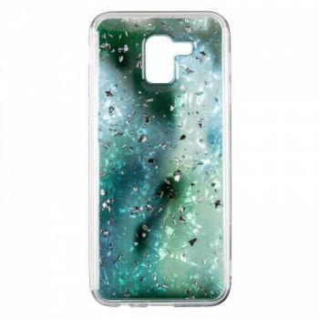 Чехол с жидкостью и блестками Light Stone от Baseus для Samsung J600 (J6-2018) зеленый
