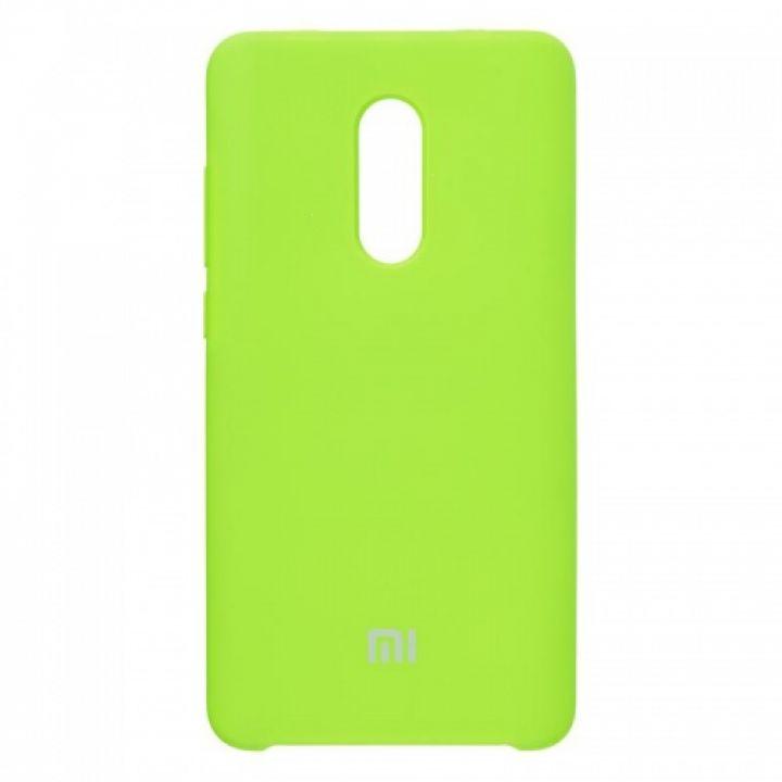 Оригинальный чехол накладка Soft Case для Xiaomi Redmi Note 4x зеленый
