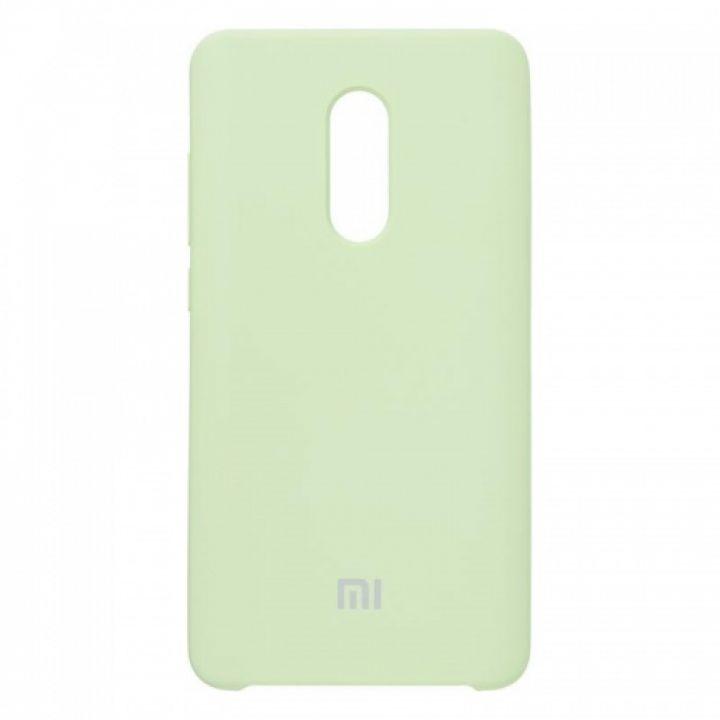 Оригинальный чехол накладка Soft Case для Xiaomi Redmi Note 4x Lime