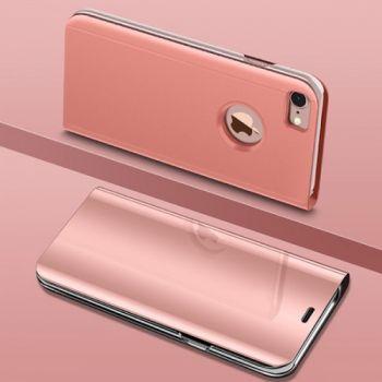 Яркий прозрачный чехол книжка Floveme для iPhone 7 rose