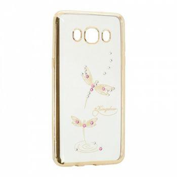 Прозрачный чехол с рисунком и камешками для Meizu M5c Dragonfly