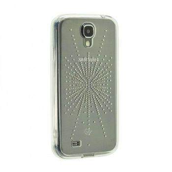 Прозрачный чехол накладка с рисунком для Samsung J700 (J7) серебро