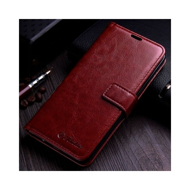 Стильный Luxury Retro чехол книжка для Samsung Galaxy Note 8 brown