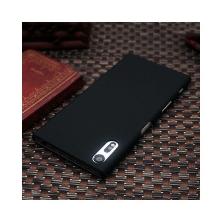 Прорезиненный чехол накладка Silk Touch для Sony Xperia XZ black
