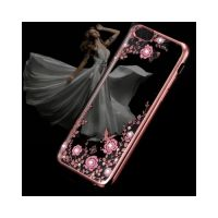 Роскошный чехол накладка Flora Diamond для iPhone 7 Plus rose