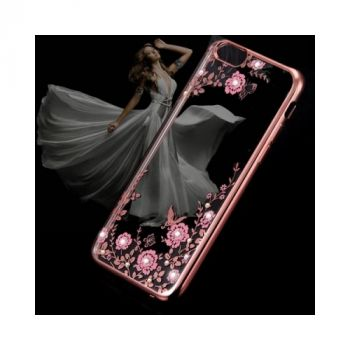 Чехол накладка Flora Diamond для iPhone 8 rose