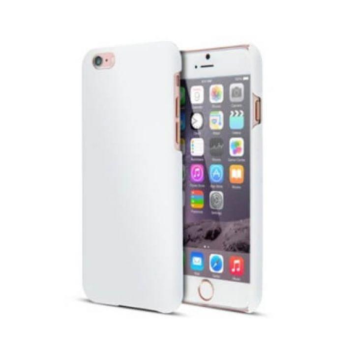 Прорезиненый пластиковый чехол-пенал для iPhone 6 Plus White