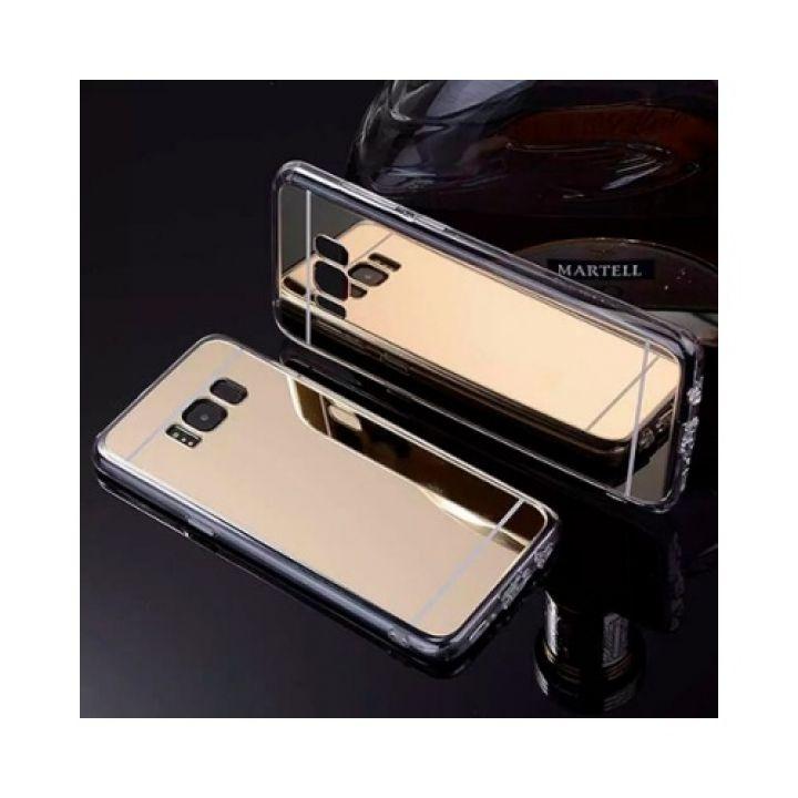Зеркальный чехол бампер золотого цвета Acylic для Samsung Galaxy S8 Plus