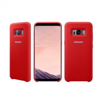 Оригинальный чехол накладка Soft Case для Samsung Note 8 красный