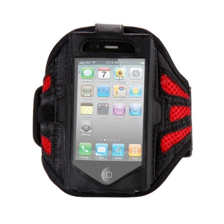 Спортивный чехол на руку Fitness для iPhone 5/5S red