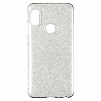 Чехол с блесками Glitter Silicon от Remax для Xiaomi Redmi Note 5/5 Pro Silver