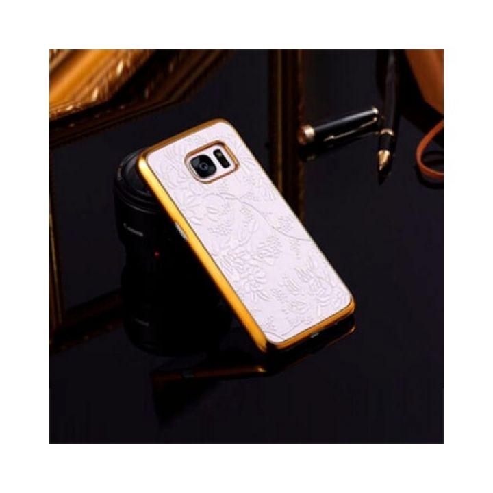 Чехол бампер Lovely Flower для Samsung Galaxy S7 white FLOVEME