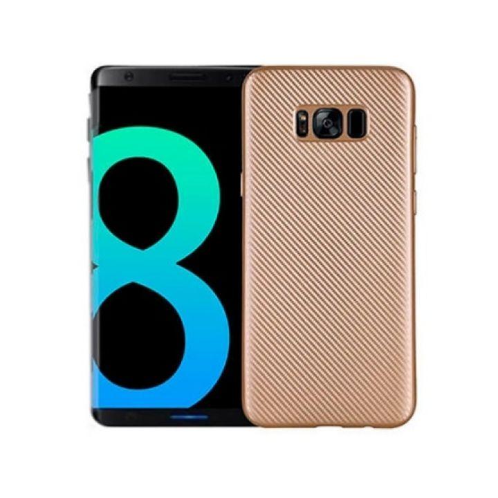 Золотой чехол накладка Carbon Gold для Samsung Galaxy S8 Plus