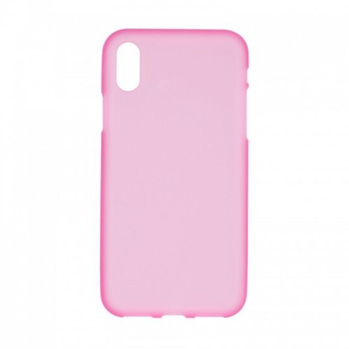 Оригинальная силиконовая накладка для iPhone Xs розовый
