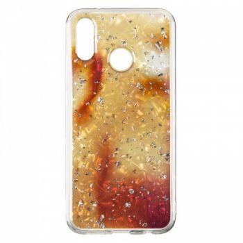 Чехол с жидкостью и блестками Light Stone от Baseus для Huawei P20 Lite золото