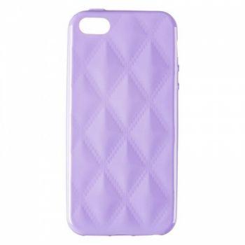 Накладка в ромбиках для девочек на iPhone 5 фиолетовый