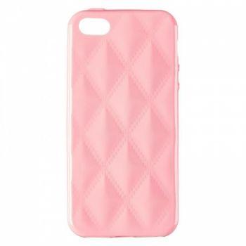 Накладка в ромбиках для девочек на iPhone 5 Light розовый