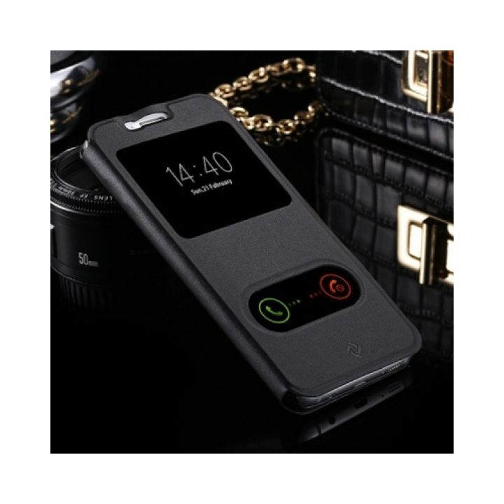 Чехол книжка от Floveme для Samsung Galaxy S7 Edge Black