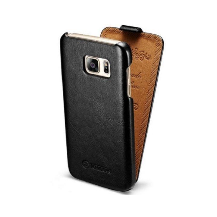 Кожаный чехол флип Luxury Retro для Samsung Galaxy S7 Edge  black