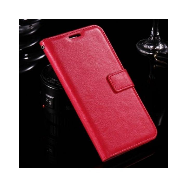 Красивый чехол книжка Floveme Vintage для Samsung Galaxy J7 2016 red