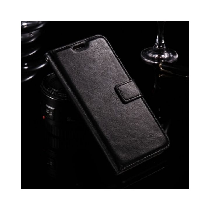 ОРИГИНАЛ кожаный чехол книжка Floveme Vintage для Samsung Galaxy J7 2016 black