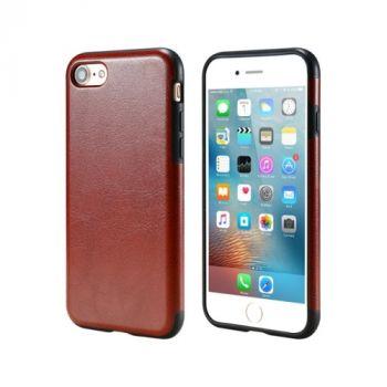 Кожаный чехол бампер Retro Image для iPhone 8 brown