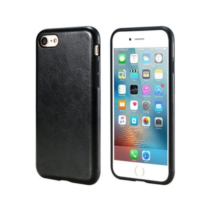 Оригинальный кожаный чехол бампер Retro Image для iPhone 8 black