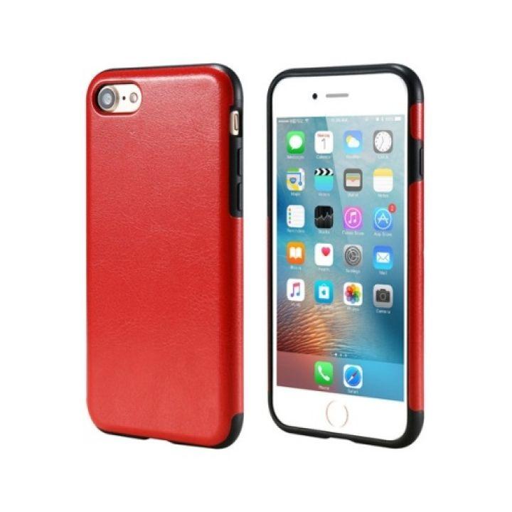 Защитный кожаный чехол бампер Retro Image для iPhone 7 red