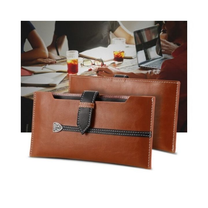 Роскошный чехол бумажник Emotion для iPhone 8 brown