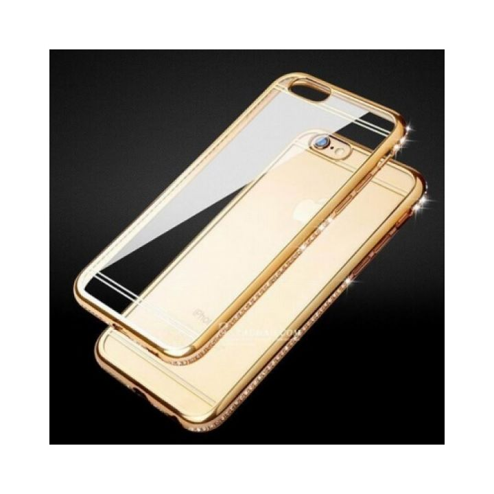 Роскошный чехол бампер Pure Diamonds для iPhone 8 gold