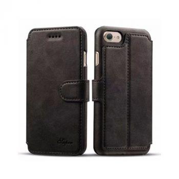 Оригинальный кожаный чехол книжка Elegant для iPhone 8 black