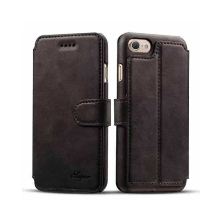 ОРИГИНАЛ кожаный чехол книжка Elegant для iPhone 8 Plus black