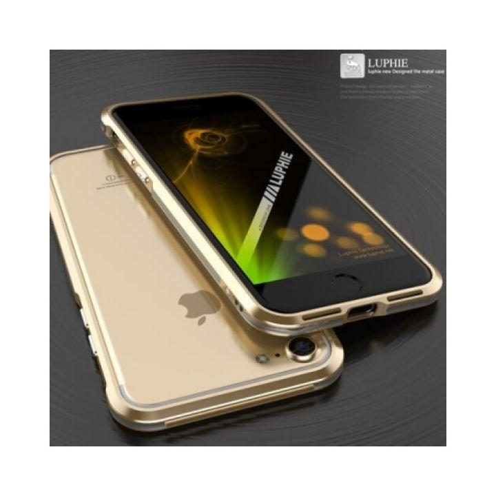 Металлический чехол бампер Luxury Metal для iPhone 7 gold