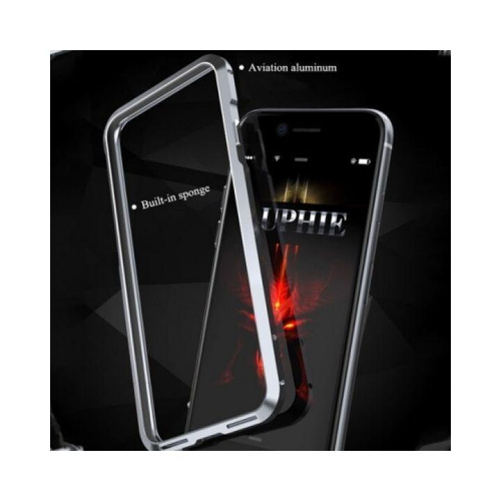 Противоударный чехол бампер Luxury Metal для iPhone 7 silver