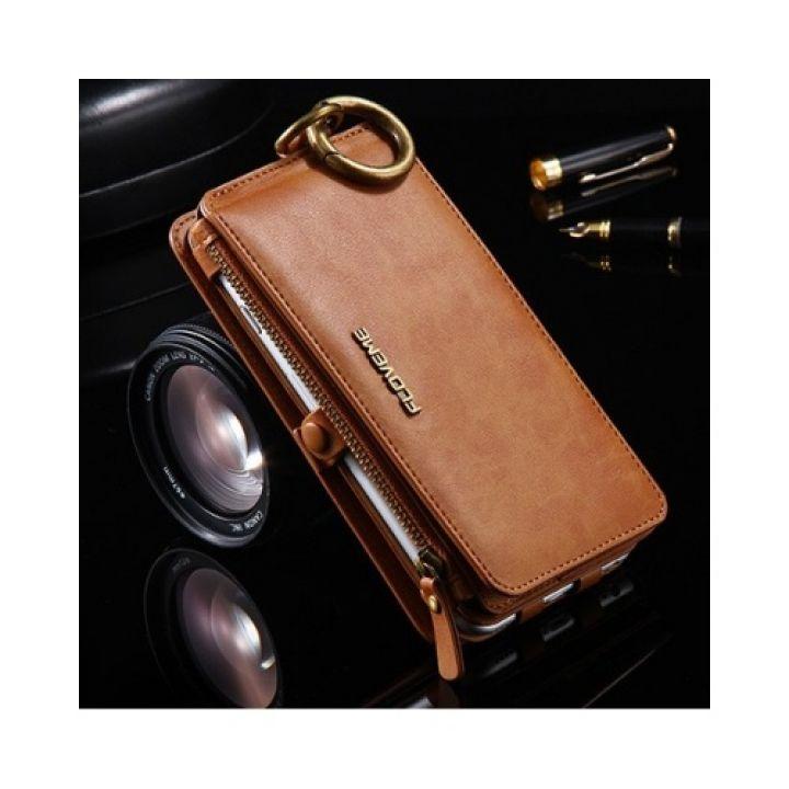ОРИГИНАЛ Кожаный чехол бумажник Business для iPhone 7 Plus brown