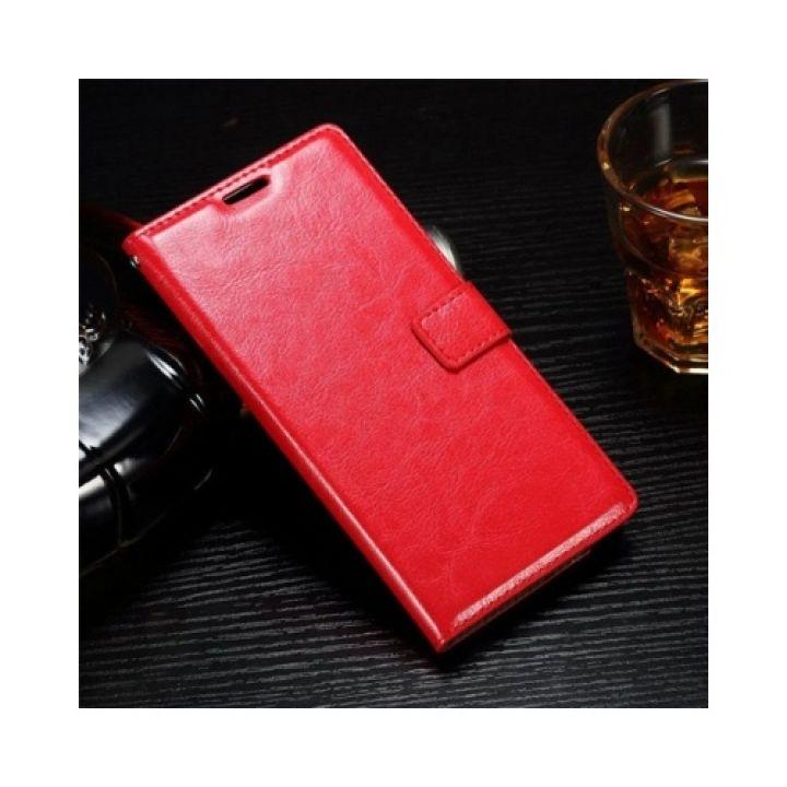 Красивый кожаный чехол книжка Floveme Vintage для Samsung Galaxy Note 7 red