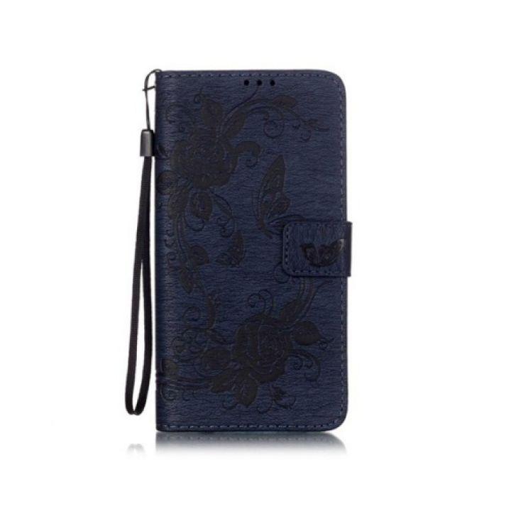 Роскошный кожаный чехол книжка Lovely для Samsung Galaxy Note 7 blue