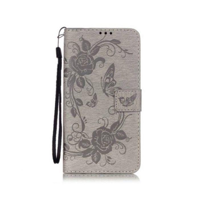 Floveme кожаный чехол книжка Lovely для Samsung Galaxy Note 7 grey