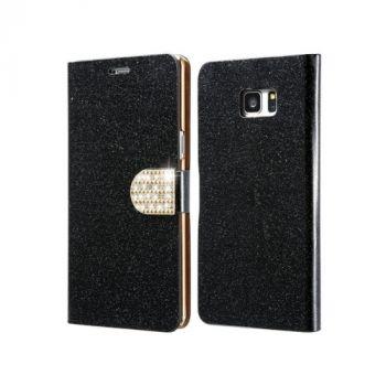 Оригинальный кожаный чехол книжка Diamond Leather для Samsung Galaxy Note 7 black