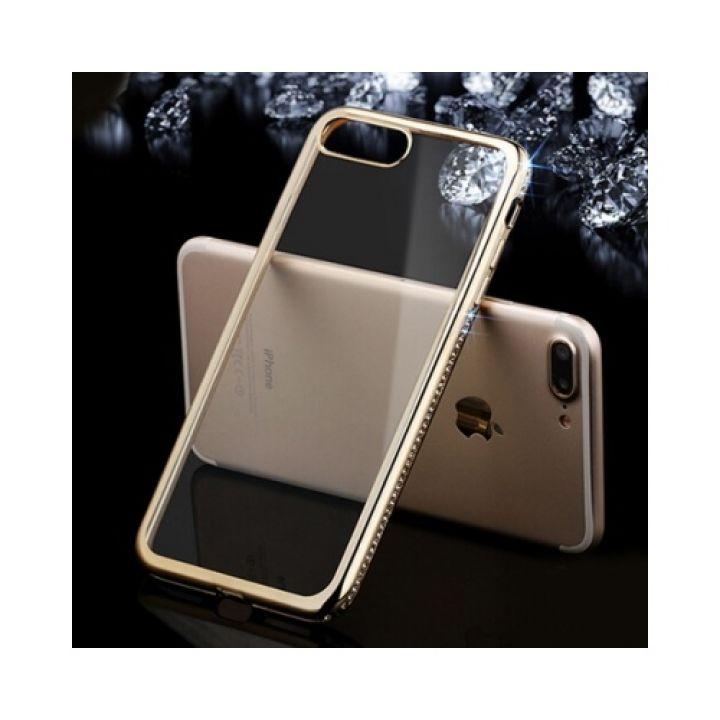 Яркий чехол бампер Pure Diamonds для iPhone 8 Plus gold
