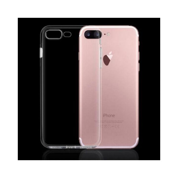 Прозрачный силиконовый чехол накладка Bright для iPhone 8 Plus