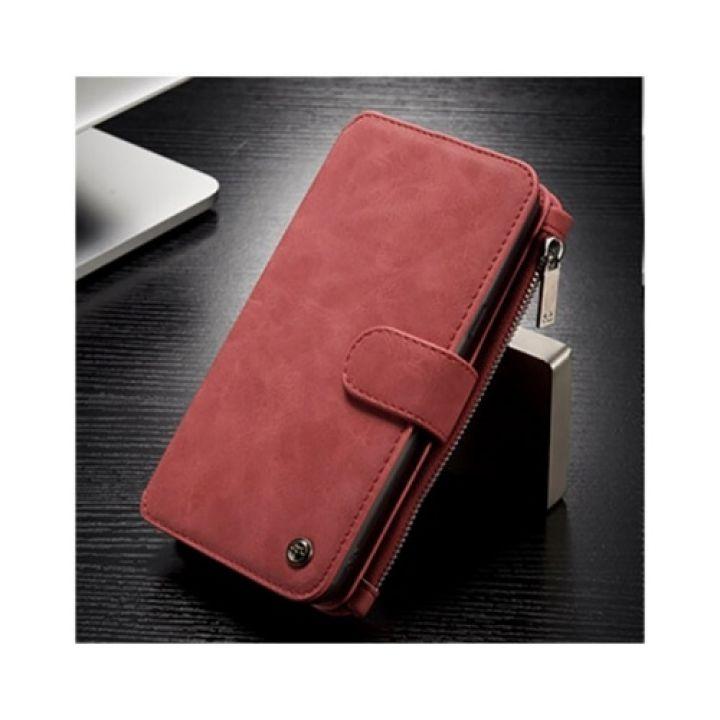Красный Luxury Business чехол бумажник для Samsung Galaxy S8 Plus