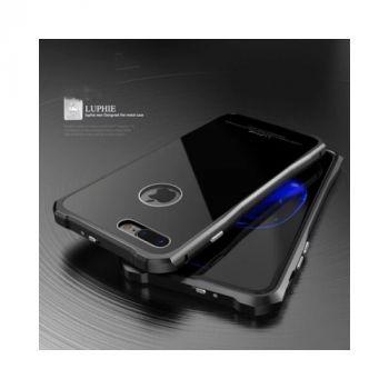 Luphie оригинальный чехол накладка Luxury Glass для iPhone 7 black