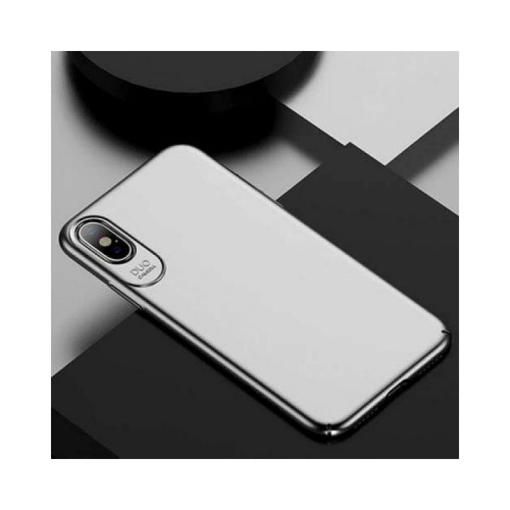 Практичный ультратонкий чехол для iPhone X Silk Touch серый