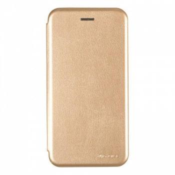 Чехол книжка из кожи Ranger от G-Case для Huawei Honor 7c золото