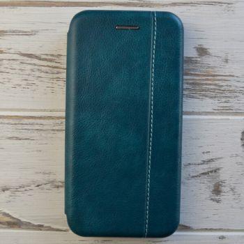 Кожаный чехол флип зеленого цвета Lux Green для Samsung Note 9