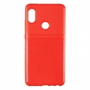 Чехол хамилион с прозрачной половиной для Xiaomi Redmi Note 5/5 Pro красный