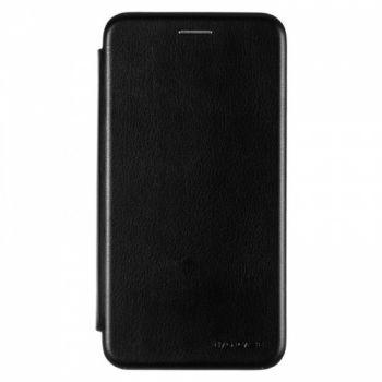 Чехол книжка из кожи G-Case Ranger для Huawei Y7 (2019) черная