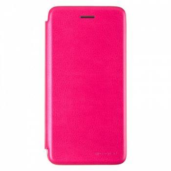 Чехол книжка из кожи G-Case Ranger для Huawei Y7 (2019) розовая