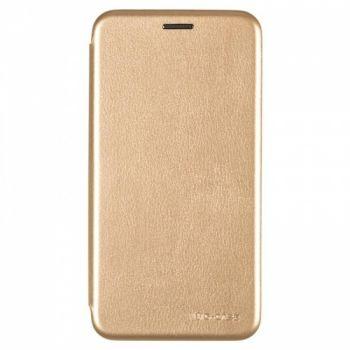 Чехол книжка из кожи G-Case Ranger для Huawei Y7 (2019) золото